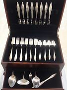 Star By Reed And Barton Sterling Silver Flatware Set Service 37 Pieces John Prip