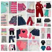 50 Piece Huge Lot Baby Girl 6-12 Month Clothes Outfits Pajamas Sets Pants And More