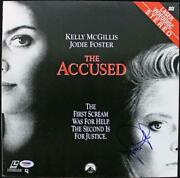 Jodie Foster The Accused Authentic Signed Laserdisc Cover Psa/dna J00678
