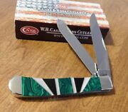 Case Xx New Exotic Green Malachite Handle 2 Blade Trapper Knife/knives