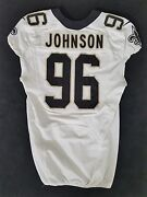 Nfl Game Issued And Worn Jersey By 96 Tom Johnson Of The New Orleans Saints