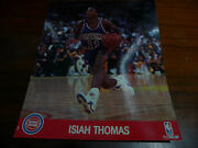 Detroit Pistons Isiah Thomas 8 X 10 Picture With Stats On Back Hoops Issue 1990