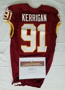 91 Ryan Kerrigan Of Redskins Nfl Game Worn And Unwashed Jersey Vs. Eagles Wcoa