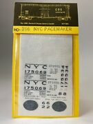 Cds Lettering Ho-396 New York Central Pacemaker Dry Transfers Ho-scale ☆new☆