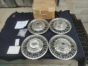 Nos Set Of 4 15 1985 1986 Chevrolet Truck Wire Wheel Cover Hubcaps