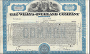 The Willys-overland Company...1933 Common Stock Certificate