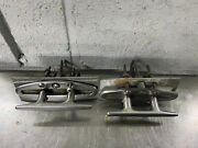 Lot Of 2 Stainless Steel Dock Spring Control Deck Marine Rope Cleats / Cheats