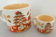 New Starbucks You Are Here Japan Autumn Leaves Ceramic Mug Cup Ornament Set