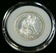 1890 Liberty Seated Silver Dime Choice Proof White In Airtight Cap T20
