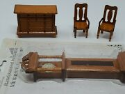 Very Well Crafted Vintage Wooden Doll House Furniture