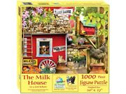New Sunsout Jigsaw Puzzles Deluxe 1000 Piece Puzzle The Milk House - Lori Schory