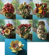Harmony Kingdom New In Box Poppy/rose Party Winter Spring Bouquet/lotus Pick1