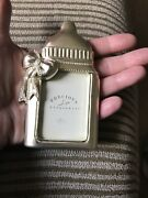 Nwt Small Silver Bottle Russ Baby Picture Frame By Precious Keepsakes Photo