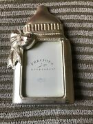 Nwt Small Bottle Silver Russ Precious Keepsakes Baby Picture Frame Photo