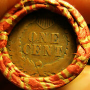 Lincoln Wheat Penny Rolls Capped With Ih Indian Head Cents On Both Ends