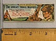 1930s Federal Sweets Minute Biographies Daniel Boone Rare -- 2081