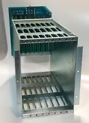 Vintage Lecroy 3500-51 8 Slot Mini Camac Crate Backplane With Card Cage