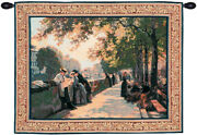 Bank Of The River Seine I French Woven Wall Hanging Tapestry
