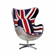 Acme Brancaster Accent Chair W/swivel In Pattern Fabric And Aluminum