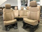 2011-2016 Ford F250 F350 Superduty Tan Leather Lariat Front/rear Seats Driver