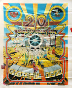 Gary Kroman Grateful Dead - 20 Years Of Rock And Roll Polyester Wall Hanging