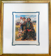 Barry Leighton-jones Emmett Kelly Guess Whoand039s Coming To Dinner Lithograph