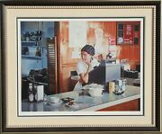 Ralph Goings One Eleven Diner Screenprint Signed And Numbered In Pencil