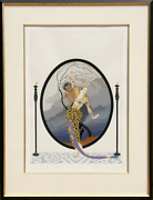 Ertandeacute Woman And Satyr Screenprint Signed And Numbered In Pencil