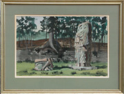 Mabel Scott, Untitled Ruins, Watercolor, Signed