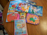 Mermaid Fairy Tinkerbell Gift Pack Book Color Book Sparkle Crayon Barbie Dvd New