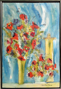 Susan Pear Meisel, Flowers 1, Oil On Canvas, Signed L.r.