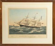 Currier And Ives, Clipper Ship Dreadnought, Hand-colored Lithograph