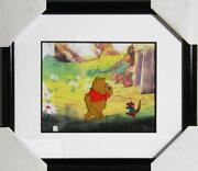 Walt Disney Studios Roo Talking With Pooh Hand Painted Production Cel With Dra