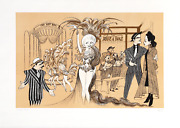 Al Hirschfeld Guys And Dolls Lithograph Signed In Pencil