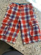 Mini Boden Boys Jean Red Plaid Board Shorts Size 10y Best Shorts Ever