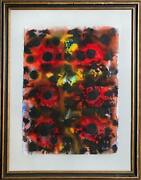 Max Epstein Untitled 4 Watercolor On Paper Signed And Dated L.r.
