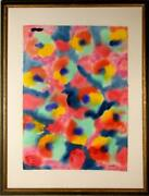 Max Epstein Untitled - Abstract 5 Watercolor On Paper Signed And Dated L.r.