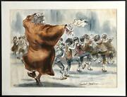 Marshall Goodman Fagin Teaching Boys To Steal Oliver I Watercolor On Paper