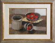Unknown Artist, Still Life With Tomatoes, Oil And Collage On Board, Signed 'lydi