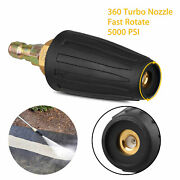 1/4 High Pressure Washer Rotating Turbo Nozzle Spray Tip 4.0 Gpm 3000psi Quick