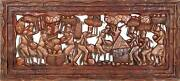 African Or Oceanic Objects Carrying Food Carved Wood Sculpture