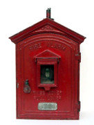 Antiques, Fire Department Alarm Box - New York City, Painted Cast Metal