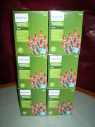 Nib 6 Boxes Philips 100ct 600total Mini Red Lights Valentines Day Christmas