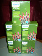 Nib 5 Boxes Philips 100ct 500total Mini Red Lights Valentines Day Christmas