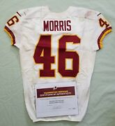 46 Alfred Morris Of Redskins Nfl Game Used And Unwashed Jersey Vs. Falcons Wcoa