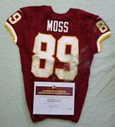 89 Santana Moss Of Redskins Nfl Game Used And Unwashed Jersey Vs. Chiefs Wcoa