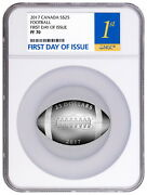 2017 Canada Football Silver Proof 25 Ngc Pf70 Ucam First Day Of Issue 8500 Made