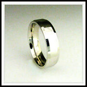 18 Kt Solid White Gold Wedding Band Custom Made For Men And Ladies / De 0002 /