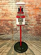 Farmall Tractor Gumball Machine Vintage Candy Dispenser + Stand Man Cave Gift