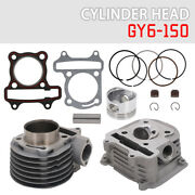 Cylinder Head Piston Gasket Rebuild Set For Gy6 150cc Chinese Scooter Motorcycle